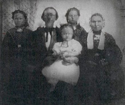 Anders and Bodila Poulsen family, about 1852