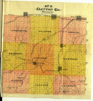 Map of Concord Twp., Clinton Co., Missouri