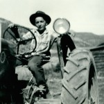 1942 Dad on tractor